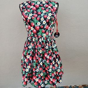 NWT hell bunny strawberry dress vintage style